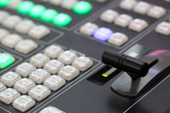 Video processing console Stock Image