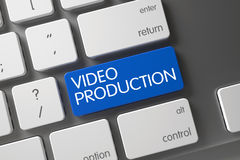 Video Production CloseUp of Keyboard. 3D. Royalty Free Stock Photography