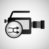 Video production concept connection button Stock Photography
