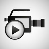 Video production concept play button music Royalty Free Stock Photo