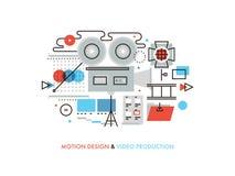 Video production flat line illustration royalty free illustration