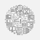 Video production illustration Royalty Free Stock Image