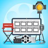 Video production poster Royalty Free Stock Image