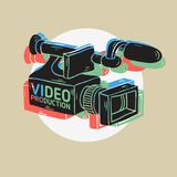 Video Production RGB Layered Design With Isolated Video Camera Drawings. Video Production RGB Layered Design With Isolated Video Camera  Drawings  Vector Graphic Stock Photography