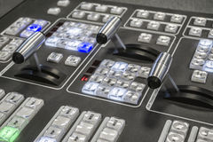 Video Production Switcher of Television Broadcast Royalty Free Stock Photography
