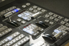 Video Production Switcher of Television Broadcast royalty free stock image