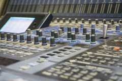 Video Production Switcher of Television Broadcast. Studio Stock Photography