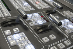 Video Production Switcher of Television Broadcast Stock Image