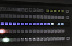 Video Production Switcher of Television Broadcast Royalty Free Stock Images
