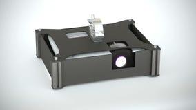 Video proiettore in caso del proiettore illustrazione vettoriale