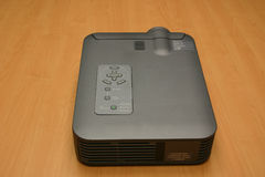Video Projector. Top view of a video projector used for slideshows royalty free stock photo
