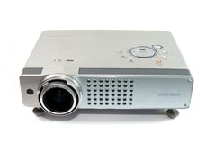 Video projector. For work presentation or home cinema entertainment Stock Image