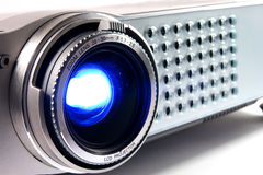 Video projector. For work presentation or home cinema entertainment royalty free stock images