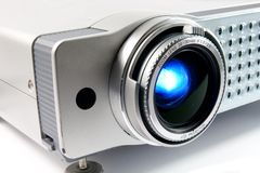 Video projector. For work presentation or home cinema entertainment Stock Photos