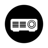 Video projector isolated icon. Vector illustration design Royalty Free Stock Photography