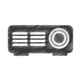 Video projector isolated icon. Vector illustration design Royalty Free Stock Images