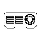 Video projector isolated icon. Vector illustration design Stock Images