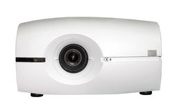 Video projector isolated. On the white background stock image