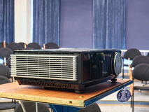 Video projector in the room. Video projector in a conference hall stock image