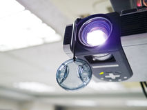 Video projector. For work presentation or home cinema entertainment on ceiling Royalty Free Stock Photos