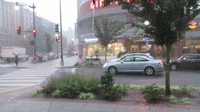Deluge at the Shopping Center stock footage
