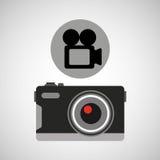 Video record fotografico della retro macchina fotografica Fotografie Stock Libere da Diritti