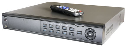 Video recorder with remote control Royalty Free Stock Photos