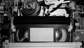 Video recorder with videocassette royalty free stock image