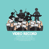 Video Recording By Smartphone During The Show Royalty Free Stock Images