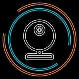 Video rengöringsdukkam - pratstundkamerasymbol, vektorwebcam vektor illustrationer