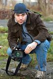 Video reporter Stock Photography