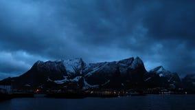 Video rivestimenti di tempo, Reine Norway video d archivio