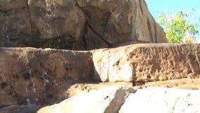 Rocks Waterfall Wide. Video of Rocks Waterfall Wide stock footage