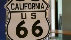 Video Route 66 US California highway signage. Famous road street in United State. Route 66 US California highway signage. Famous road street in United State stock video