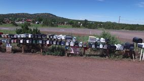 Video of a row of mailboxes stock video footage