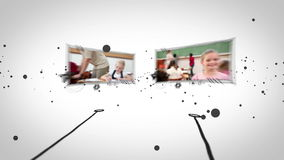 Video's van leerlingen in klaslokaal stock video