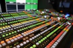 Video scambista di produzione di radiodiffusione immagini stock libere da diritti