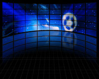 Video Screens. With stars and other elements Stock Image