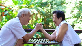Video secret of lasting love. Asian senior comply, give in to each other in life stock footage