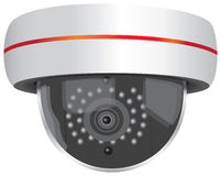 Video Security Camera Royalty Free Stock Photo