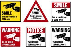 Video segni di sorveglianza illustrazione vettoriale