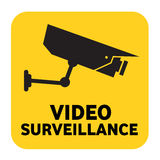 Video segno di sorveglianza Immagini Stock Libere da Diritti