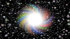 Video senza cuciture del ciclo della stella di scoppio illustrazione vettoriale