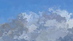 Video senza cuciture macchiato animato astratto del ciclo del fondo - colore verde di gray blu - paesaggio della montagna stock footage