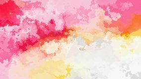 Video senza cuciture macchiato animato astratto del ciclo del fondo - effetto dell'acquerello - colori romantici pastelli stock footage