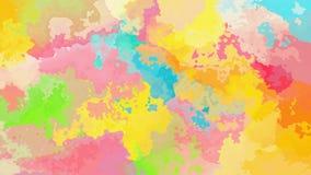 Video senza cuciture macchiato animato astratto del ciclo del fondo - effetto dell'acquerello - spettro pastello di colore pieno video d archivio