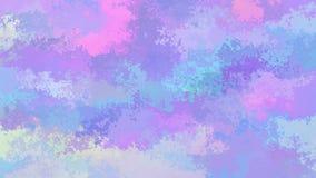 Video senza cuciture macchiato animato astratto del ciclo del fondo - spettro olografico sveglio - porpora blu v di rosa di bambi video d archivio