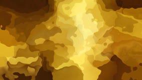 Video senza cuciture macchiato animato del ciclo del fondo - effetto dell'acquerello - colore giallo, beige e marrone di colore m stock footage