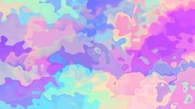 Video senza cuciture macchiato animato del ciclo del fondo - effetto dell'acquerello - spettro di colori pastello olografico video d archivio