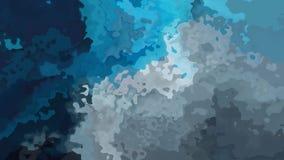 Video senza cuciture macchiato animato del ciclo del fondo - effetto dello splotch dell'acquerello - azzurri scuri e gray d'argen archivi video